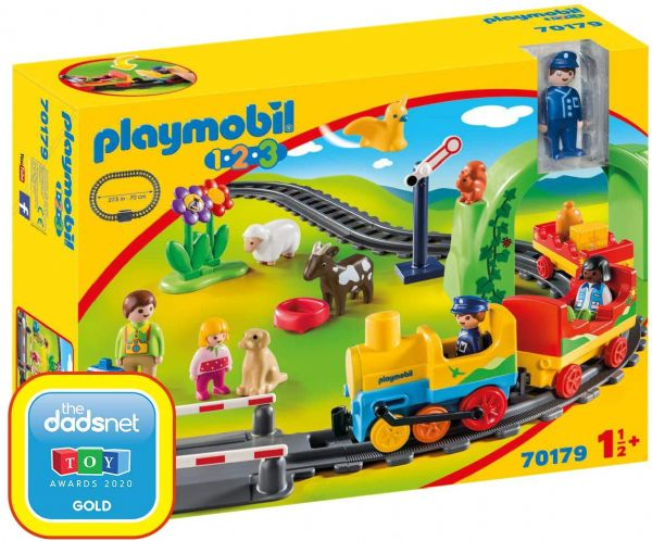 Playmobil 70179 1.2.3 My First Train Set for Children 18 Months+